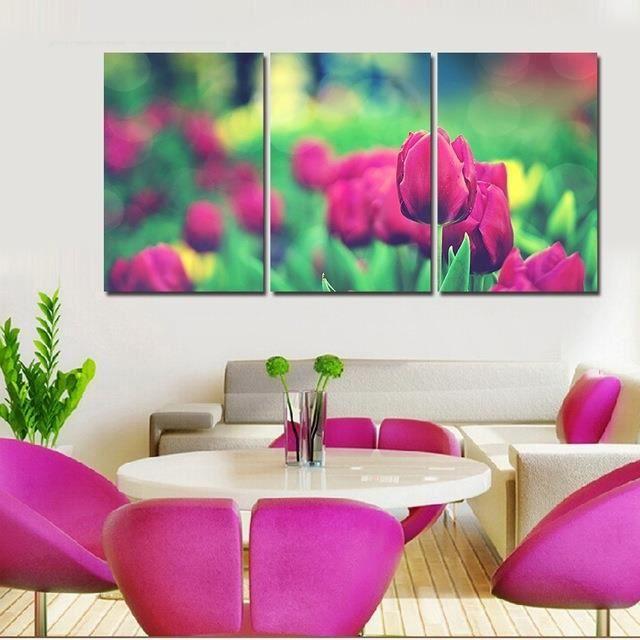Peinture Murale Moderne Décoration Intérieure Rose Flowers