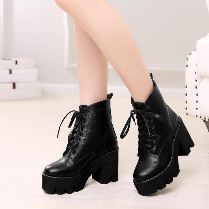 bottes courtes-Pure Colorpais pompe de talon Bottines pour femme wTZICHFnP1