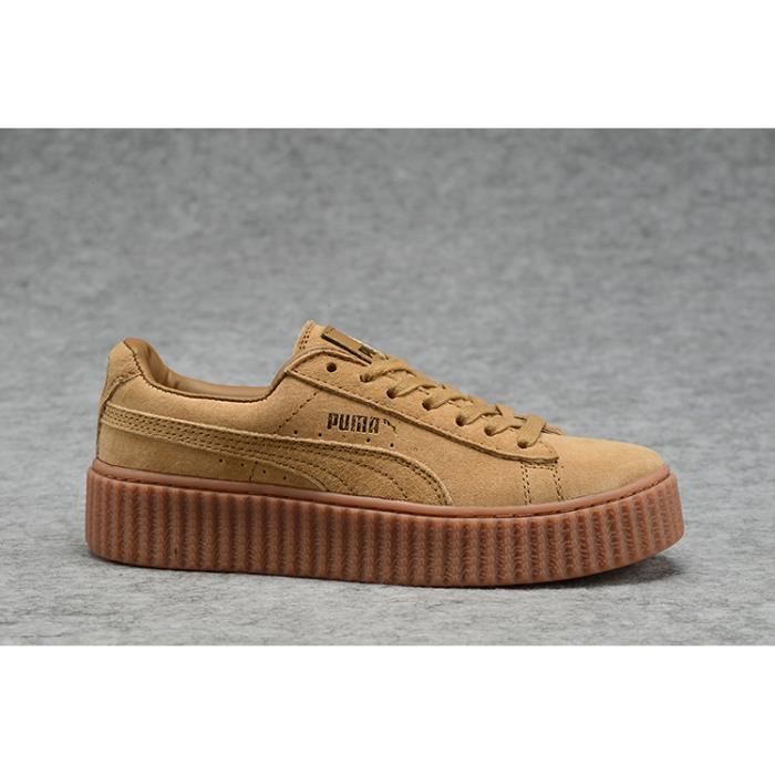 Suede Chaussures Baskets Rihanna Mix Puma Creepers Marron gyIvYf7b6