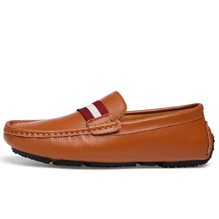 Chaussures Homme Bateau en cuir Chaussures de ville Chaussures plates Chaussures à la main confortables et légères Chaussures GzXKbIlFf