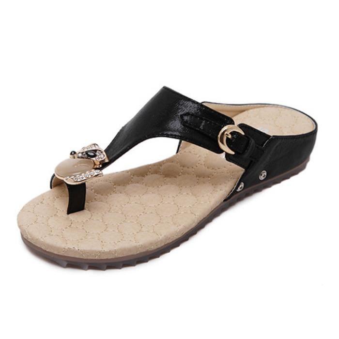 Sandales Tongs Strass Bohémien Plage Chaussures Antidérapant de Minetom Slippers Femme d'été Respirant Style wFt5xxOEq