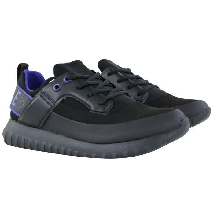 Calvin Klein baskets noir basse néoprène REX (Noir - 44)