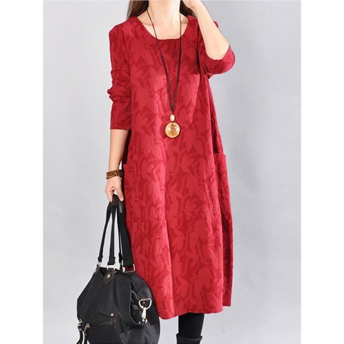 manches longues solide robe de maternité vêtements de maternité de la mode