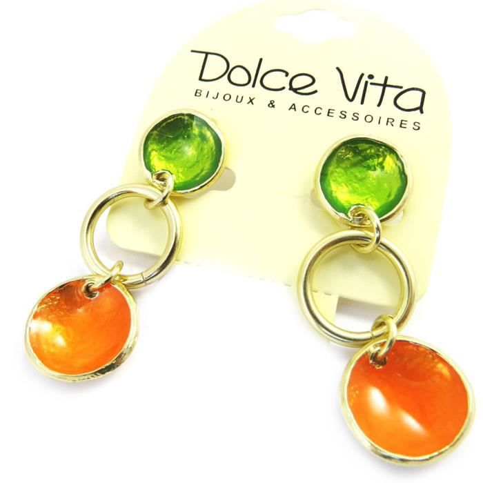 Dolce Vita [M4316] - Boucles Créateur Coloriage orange vert