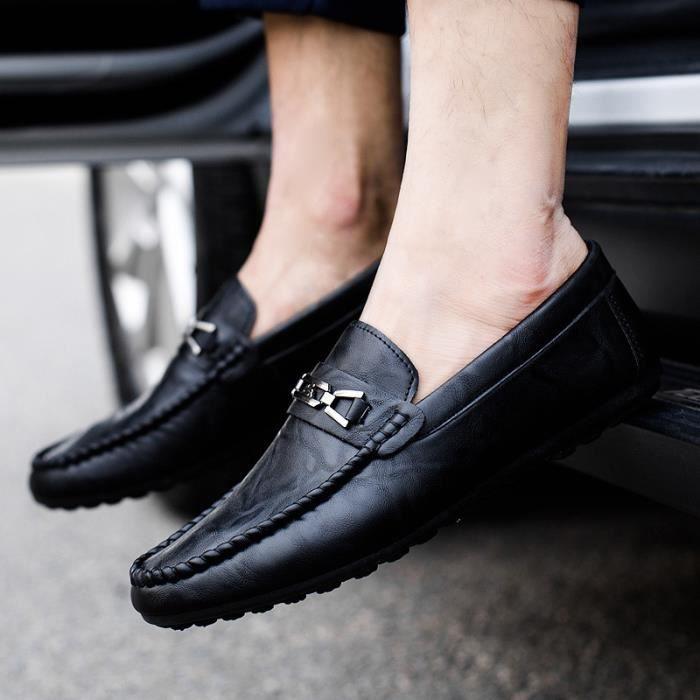 Homme Casual Mocassins cuir Chaussure Driving Chaussure Pois confortable, perméable à l'air Taille 39-44
