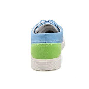 Chaussures En Toile Hommes Basses Quatre Saisons Élégant MMJ-XZ112Bleu39 QKj5F