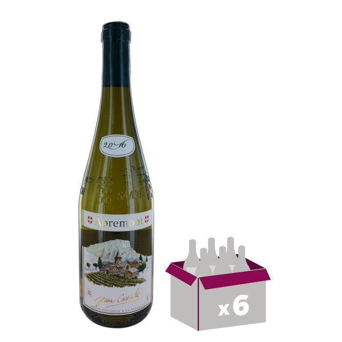 MAISON JEAN CAVAILLE 2016 - Apremont Village - Vin de la Savoie - Blanc - 6x 75 clVIN BLANC