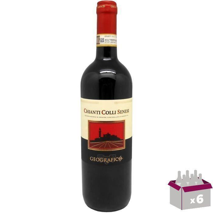 CONTESSA DI RADDA GEOGRAFICO 2016 Chianti Colli Senesi Vin d'Italie 6x 75 cl - Rouge - DOCG