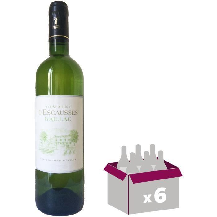 DOMAINE D'ESCAUSSES 2016 Gaillac - Blanc - 6x 75 clVIN BLANC