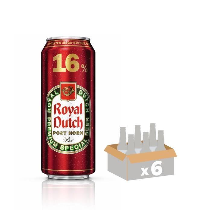 Bière ambrée - Canette - 0,50L -16° x 6BIERE