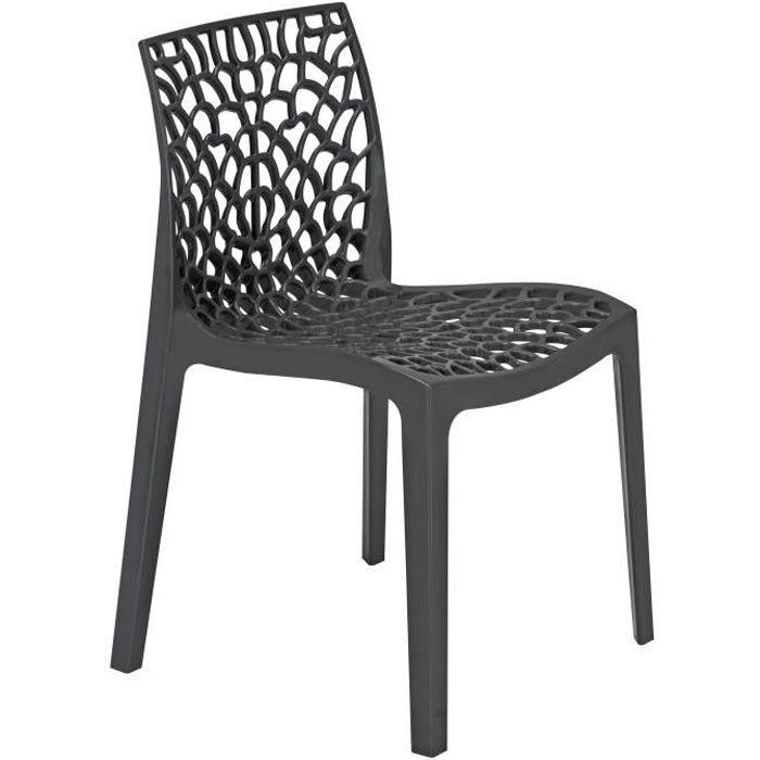 GREEN BOHEME chaise de jardin Gruvyer - En polypropylène - Gris