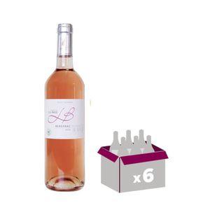 VIN BLANC Château La Brie Bergerac 2016 - Vin rosé - 75 cl x