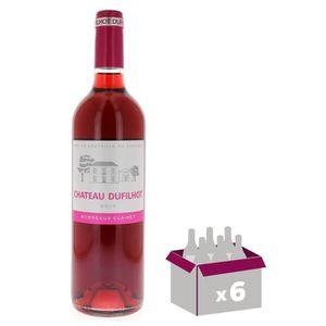 VIN ROSÉ Château Dufilhot 2017 AOC Bordeaux Clairet - Rosé