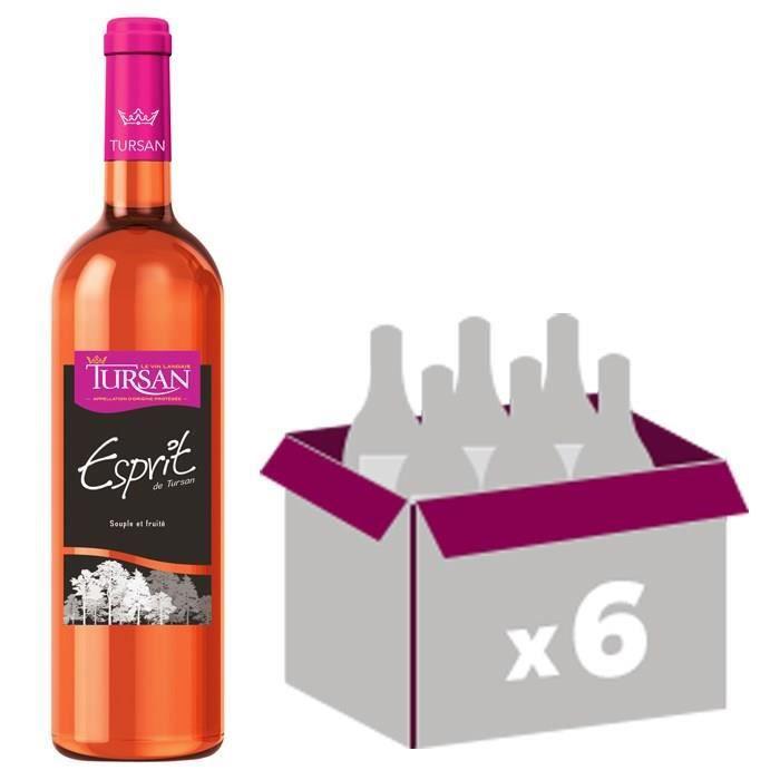 VIN ROSÉ Esprit de Tursan AOC Tursan Landes - Vin rosé