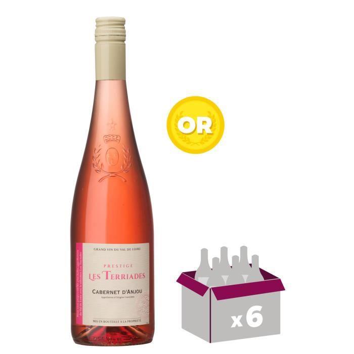 VIN ROSÉ Les Terriades 2017 Cabernet d'Anjou - Vin rosé du