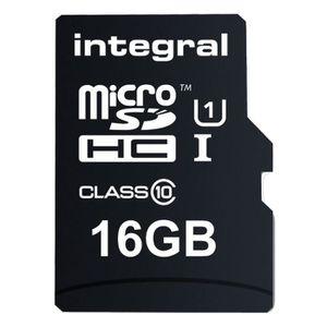 CARTE MÉMOIRE Intégral Ultima Pro Carte mémoire micro SDHC 16 Go