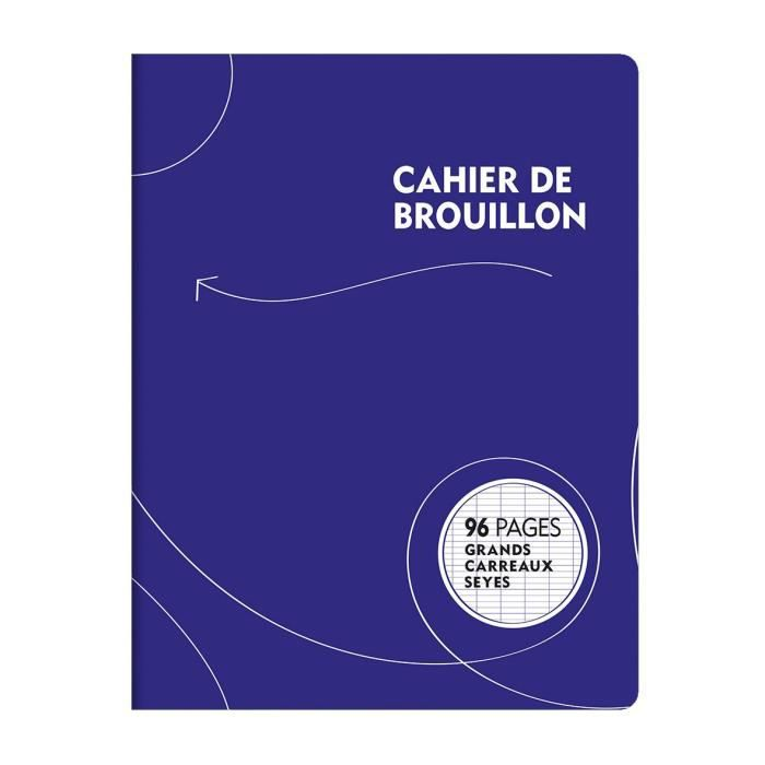 CAHIER 1ER PRIX Cahier de Brouillon piqure 96 pages - 170