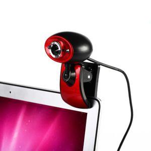 WEBCAM 2 LED USB 2.0 Webcam HD Caméra Web Cam avec Microp