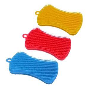 ÉPONGE VAISSELLE Vaisselle silicone éponge 3Pcs vaisselle brosse de