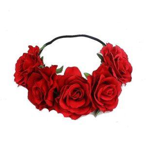 BANDEAU , SERRE,TÊTE Tête de fleur de la mode des femmes fille creux ba