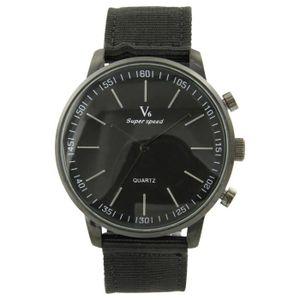 89a6b7c50fa70 Montre Homme Pas cher Tissu Noir V6 873 - Achat / Vente montre ...