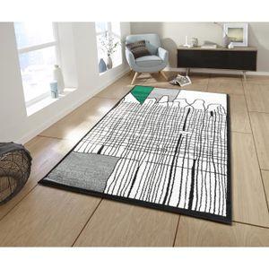 TAPIS CALI Tapis de salon graphique - 160 x 230 cm - ver