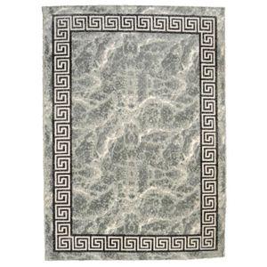 TAPIS BAHIA Tapis de salon 120x170 cm gris, noir et or