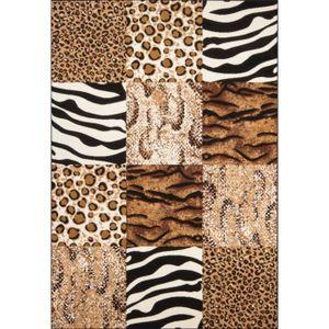 TAPIS NAZAR Tapis de salon Contempo Africa léopard