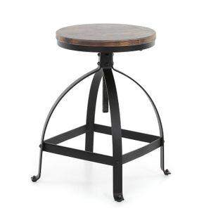 TABOURET DE BAR IKAYAA chaise de style industrielle ajustable pour