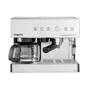 COMBINÉ EXPRESSO CAFETIÈRE Magimix Expresso et filtre automatique Chromé mat