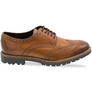 Base London Vanguard Hommes Chaussures en cuir Noir JEi2ERXtM