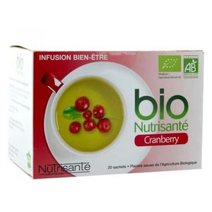DÉTOXIFIANT NUTRISANTE Infusion Bio cranberry - 20 sachets