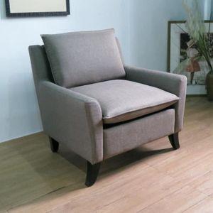 FAUTEUIL Canapé 1 place Fauteuil relax en tissu gris modern