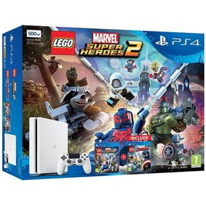 CONSOLE PS4 PlayStation 4 500Gb, White + Lego Marvel Super Her