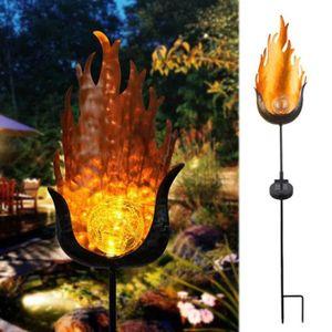 LAMPE DE JARDIN  Solaire Lampadaire extérieur - jardin lanterne lam