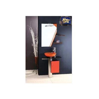 Meuble de salle de bain MANRESA, orange - Meubles salle de bain ...
