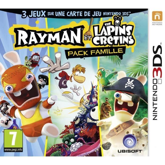 Rayman et les lapins cr tins family pack jeu 3ds achat vente jeu 3ds lapins cr tins family - Jeux lapin cretain gratuit ...