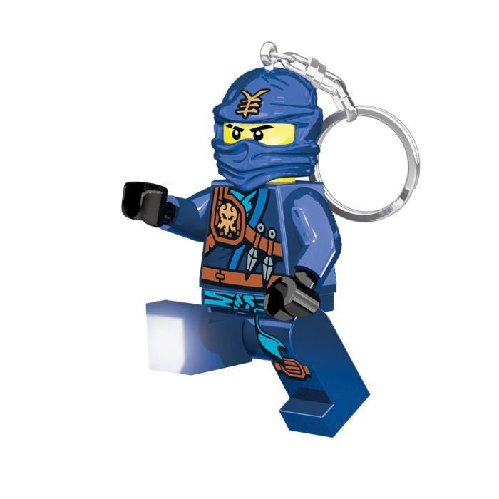 Lego ninjago porte clés led jay pieds lumineux et articulés eclairage dans 2 directions 45 x 25 x 82 cm