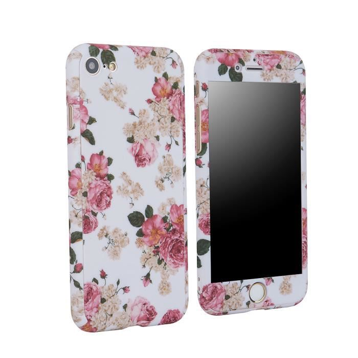 coque iphone 8 plus fleuri