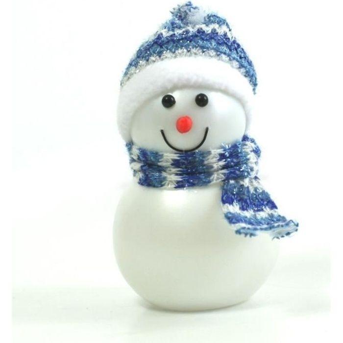 bonhomme de neige lumineux avec bonnet bleu achat vente personnages et animaux cdiscount. Black Bedroom Furniture Sets. Home Design Ideas
