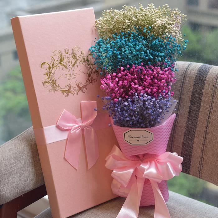 Fleur Eternelle Bouquet De Fleurs Sechees Valentin Cadeau Avec Boite