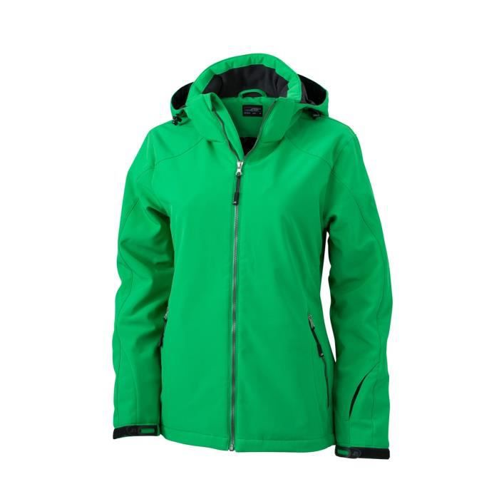 99b2bec53faa3 Veste softshell doublée - JN1053 - vert - Femme - Sports d hiver - Ski