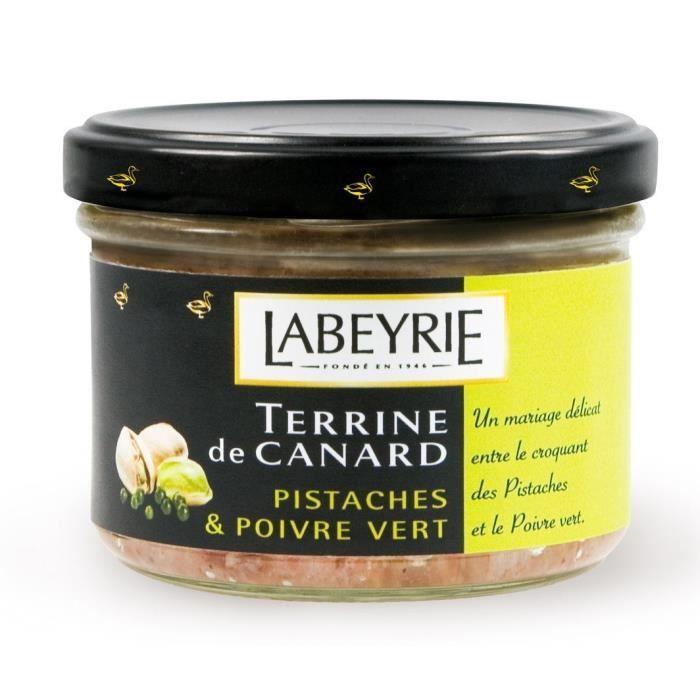 PATÉ - TERRINE Labeyrie Terrine de canard aux pistaches et poivre