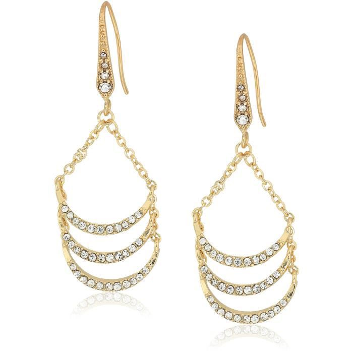 Laundry By Shelli Segal Womens Pave Ladder Drop Earrings Y0AQ8