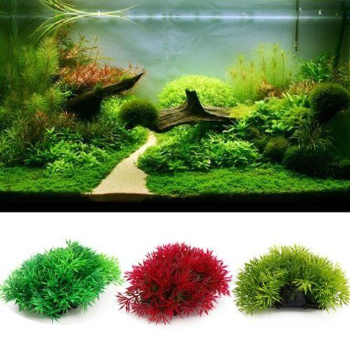 Plante Herbe Végétal Artificielle Plastique Pou... Vert,rouge,vert Clair