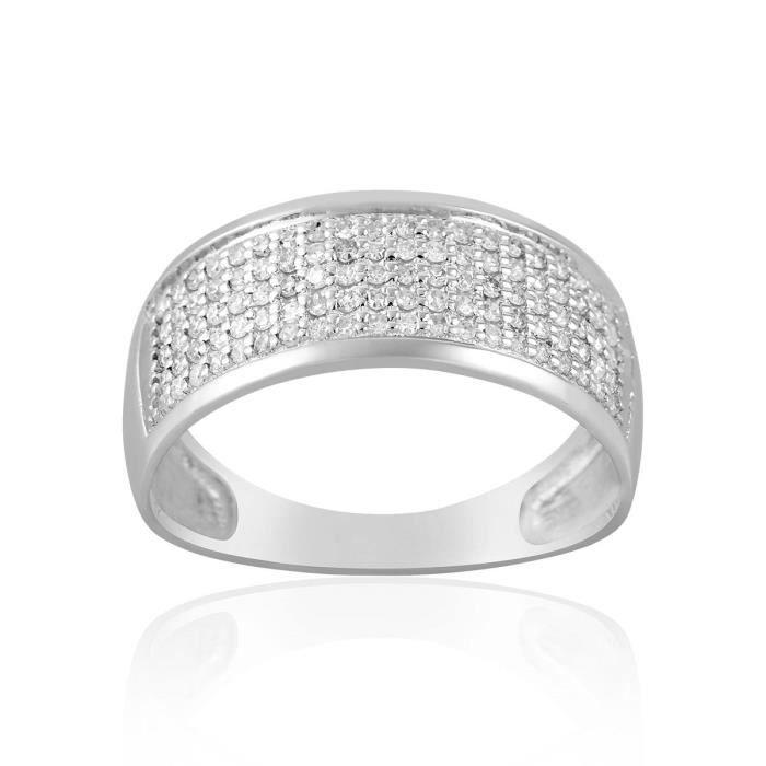 Bague CLEOR en Or 750-1000 Blanc et Diamant Blanc