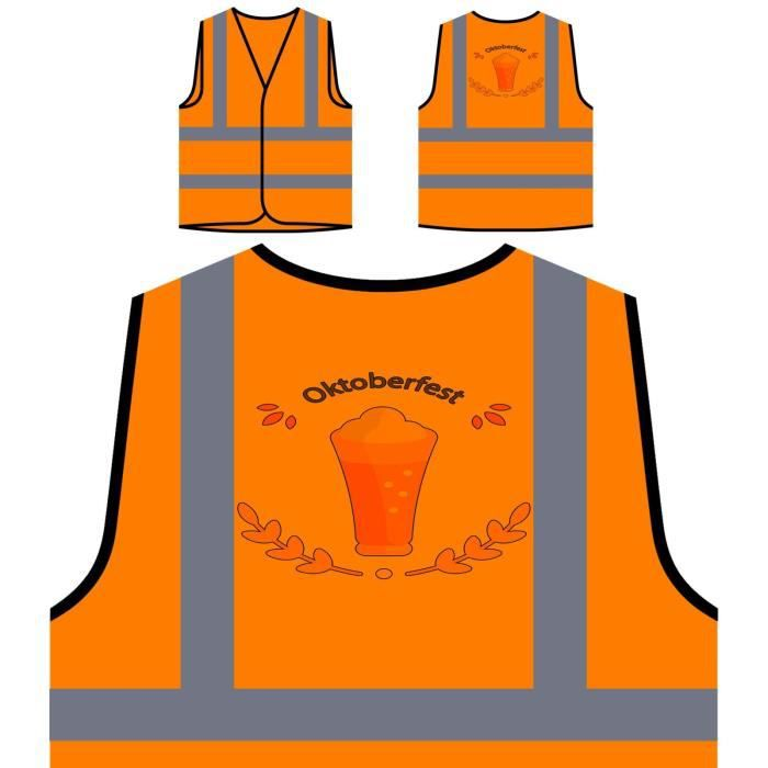 oktoberfest Orange À Veste Visibilité Protection Haute De Personnalisée Beer 2017 Party qU6w0wfZ