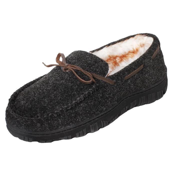 Mocassins confortable intérieur extérieur Mocassins Pantoufles Chaussures ZH1UW Taille-42