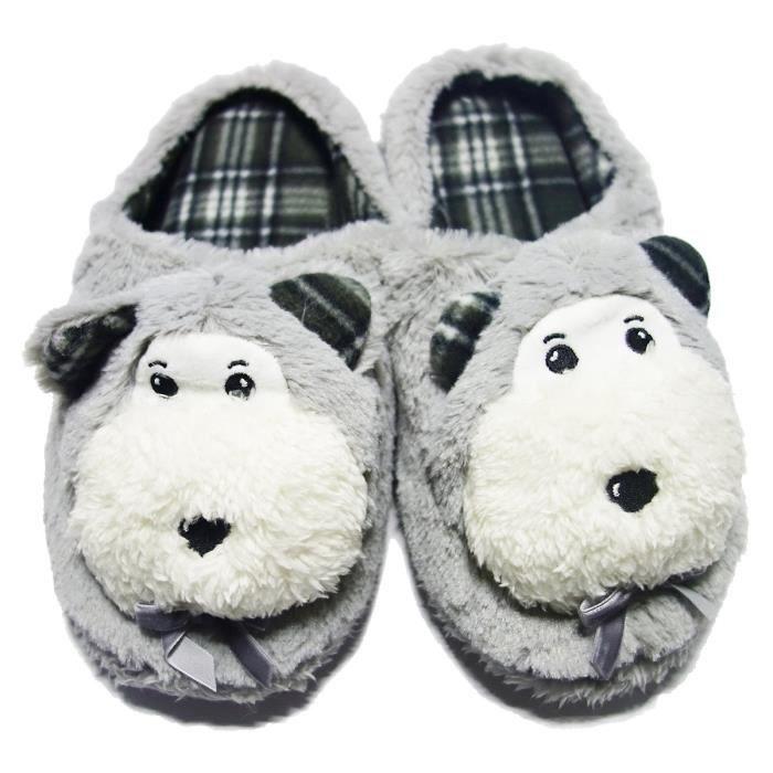 Fille Slipper mignon souple antidérapante chaussures en peluche Chambre A86K1 Taille-L