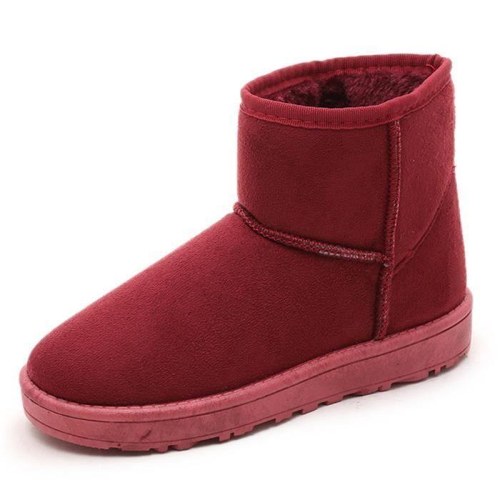 Femme Chaussure Confortable Bottes De Neige Beau Mode Hiver Garde Au Chaud Doux Coton Botte Plus De Cachemire Antidérapant 36-40 JYyOKM